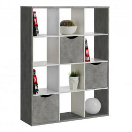 Carryhome DĚLICÍ STĚNA, šedá, bílá, 110/146/34 cm - šedá, bílá