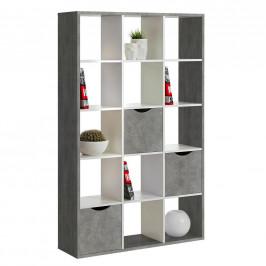 Carryhome DĚLICÍ STĚNA, šedá, bílá, 110/181/34 cm - šedá, bílá