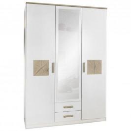 Stylife SKŘÍŇ S OTOČNÝMI DVEŘMI, bílá, barvy dubu, 135/199/58 cm - bílá, barvy dubu