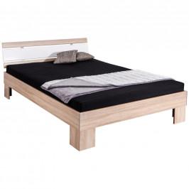 Carryhome FUTONOVÁ POSTEL, 140/200 cm, kompozitní dřevo, bílá, Sonoma dub