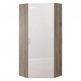 Xora ŠATNÍ SKŘÍŇ, bílá, barvy dubu, 80/185/80 cm