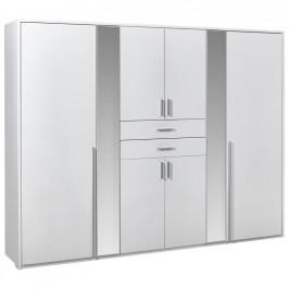 Carryhome SKŘÍŇ ŠATNÍ, bílá, 270/210/58 cm - bílá