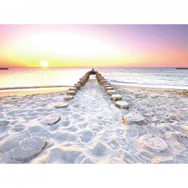 OBRAZ S NAPÍNACÍM RÁMEM, pláž & moře, 135/100/3 cm - vícebarevná
