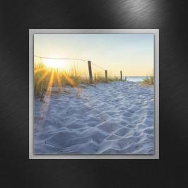 OBRAZ SKLENĚNÝ, pláž & moře, - vícebarevná