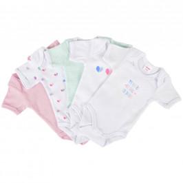 My Baby Lou SADA DĚTSKÝCH BODY - zelená, vícebarevná, růžová, bílá