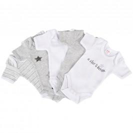 My Baby Lou SADA DĚTSKÝCH BODY - antracitová, šedá, bílá