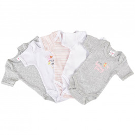 My Baby Lou SADA DĚTSKÝCH BODY - žlutá, šedá, růžová, bílá