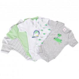 My Baby Lou SADA DĚTSKÝCH BODY - šedá, zelená, bílá