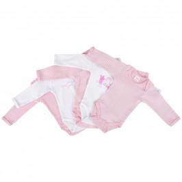 My Baby Lou SADA DĚTSKÝCH BODY - růžová, bílá, pink