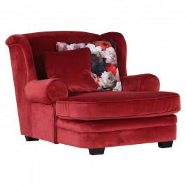 Ambia Home KŘESLO UŠÁK, textil, červená - červená