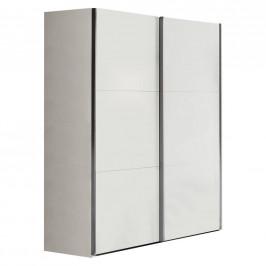 Xora SKŘÍŇ S POS. DVEŘMI.(HOR.VED.), bílá, 150,8/200,3/63,3 cm - bílá