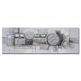 Monee OLEJOMALBA, abstraktní, 150/55 cm - šedá, černá, barvy stříbra, bílá