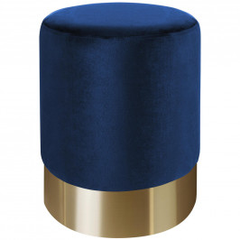 Xora TABURET, modrá, barvy zlata - modrá, barvy zlata