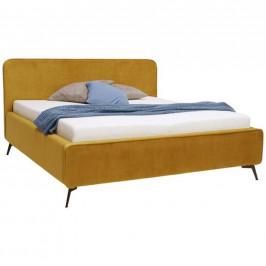 Moderano ČALOUNĚNÁ POSTEL, 180/200 cm, textil, kompozitní dřevo, curry žlutá - curry žlutá