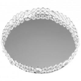 Ambia Home PODNOS SERVÍROVACÍ, kov, sklo, 26,5/4,5 cm - barvy stříbra