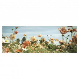 Monee OBRAZ NA SKLE, květiny, 125/50 cm - vícebarevná