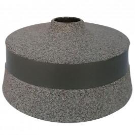 Ambia Home VÁZA, keramika, 10 cm - šedá