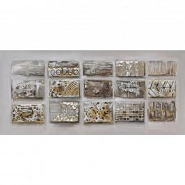 Monee OBRAZ, abstraktní, 120/55 cm - hnědá, světle šedá, béžová