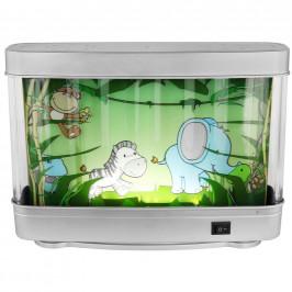 Ben'n'jen DĚTSKÁ STOLNÍ LED LAMPA, 31,5/8,5/23,5 cm - čiré, vícebarevná, barvy stříbra