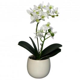 UMĚLÁ KVĚTINA orchidej 34 cm