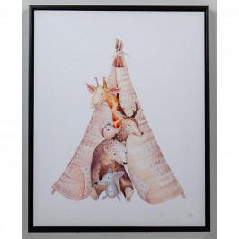 Monee OBRÁZEK PRO DĚTI, zvířata, 40/50 cm - vícebarevná