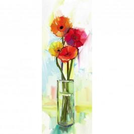OBRAZ NA PLÁTNĚ, květiny, 30/80 cm - vícebarevná