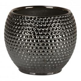 OBAL NA KVĚTINÁČ, keramika - barvy stříbra