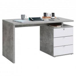 Carryhome PSACÍ STŮL, šedá, bílá, 140/60/75 cm - šedá, bílá