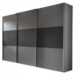 Moderano SKŘÍŇ S POS. DVEŘMI.(HOR.VED.), šedá, tmavě šedá, 280/222/68 cm