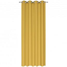 Esposa ZÁVĚS S KROUŽKY, neprůsvitné, 135/245 cm - žlutá