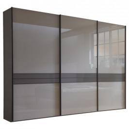 Dieter Knoll SKŘÍŇ S POS. DVEŘMI.(HOR.VED.), hnědá, šedá, 300/217/67 cm
