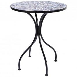 Ambia Home ZAHRADNÍ STŮL, kov, sklo, 60/60/72 cm - modrá, černá