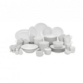 Homeware KOMBINOVANÝ SERVIS, 80dílné, porcelán - bílá