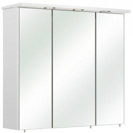 Xora SKŘÍŇKA SE ZRCADLEM, bílá, 75/72/20 cm