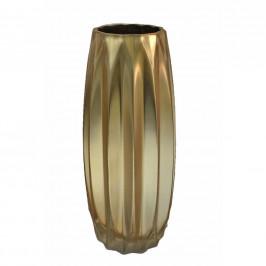 DEKORAČNÍ VÁZA, sklo, - barvy zlata