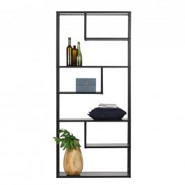 Ambia Home REGÁL, černá, železo, 85/188/35 cm - černá