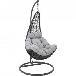 Ambia Garden ZÁVĚSNÉ KŘESLO - šedá, černá