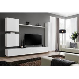 ASM Obývací stěna SWITCH VIII, bílá matná/bílý lesk