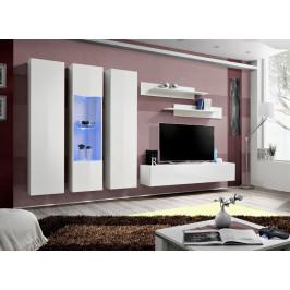 ASM Obývací stěna FLY C5, bílá matná/bílý lesk