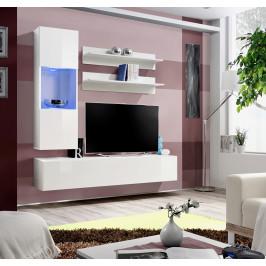 ASM Obývací stěna FLY H3, bílá matná/bílý lesk