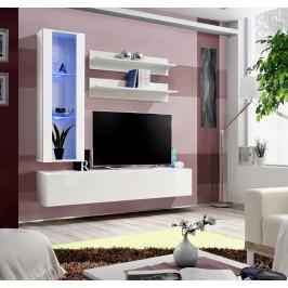 ASM Obývací stěna FLY H2, bílá matná/bílý lesk