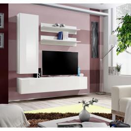 ASM Obývací stěna FLY H1, bílá matná/bílý lesk