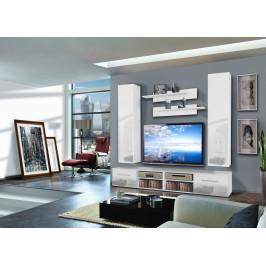 ASM Obývací stěna INVENTO D2, bílá matná/bílý lesk
