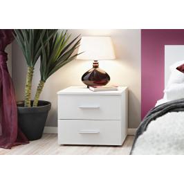 ASM Noční stolek Vicky, bílá matná/bílá matná