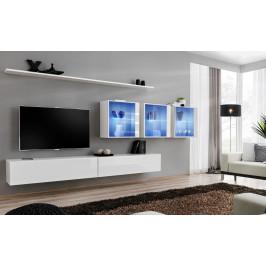 ASM Obývací stěna SWITCH XVII, bílá matná/bílý lesk