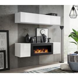 ASM Obývací stěna FLY N1, bílá matná/bílý lesk