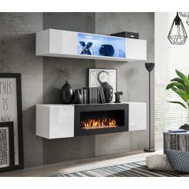 ASM Obývací stěna FLY N3, bílá matná/bílý lesk