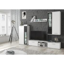 ASM Obývací stěna ABW Wow, bílá/bílá-černá