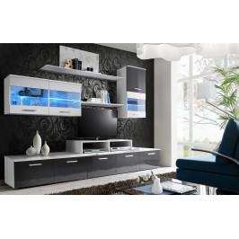 ASM Obývací stěna LOGO II, bílá matná/grafit lesk