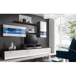 ASM Obývací stěna LOGO II, wenge/bílá lesk